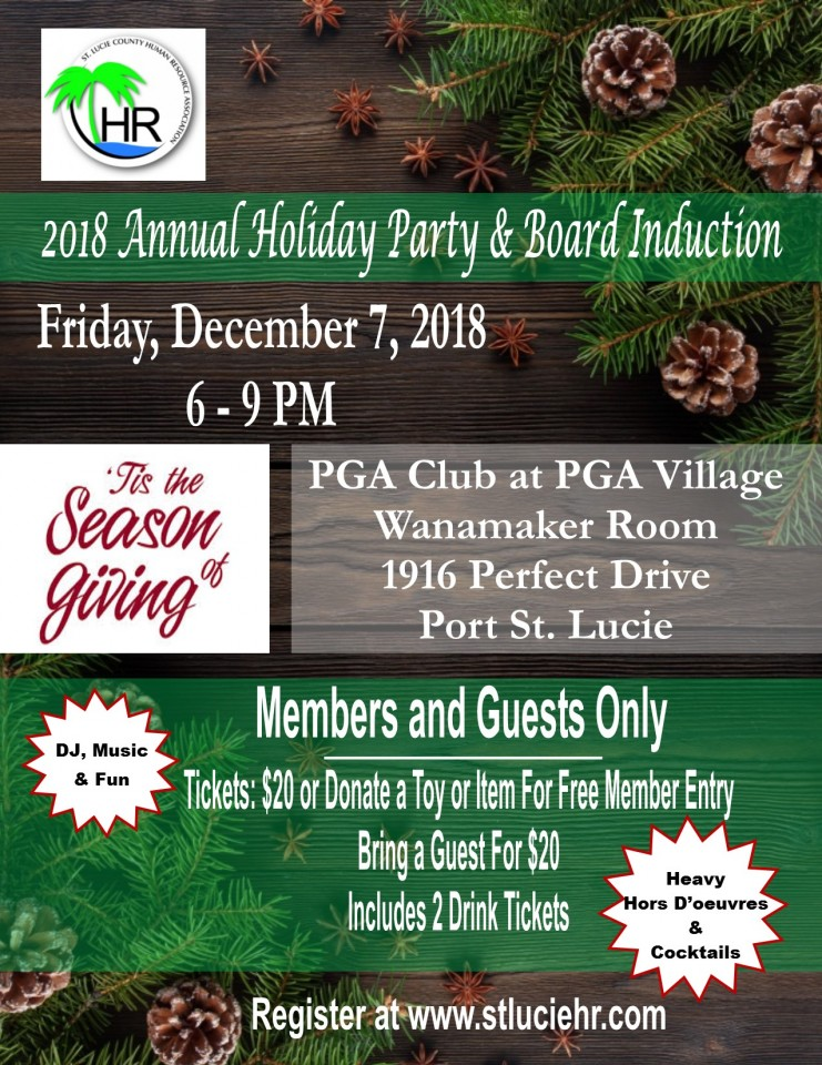 2018 Annual Holiday Party & Board Induction